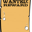 Wanted  Reward poster — Stock Vector