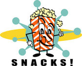 Popcorn Snacks clip art — Stock Vector