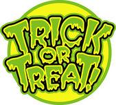 Halloween trick or treat — Stock Vector