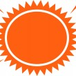 Blazing hot orange sun - Stock Vector