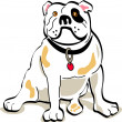 Bulldog sitting - Stock Vector