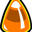 Stock Vector: Candy corn Halloween clip