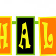 Royalty-Free Stock Vektorgrafik: Yellow and orange happy halloween banner