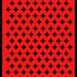 Royalty-Free Stock Vektorgrafik: Back of a red playing card with black diamonds