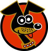 Alert and cute hyper little Dachshund dog — Stock Vector