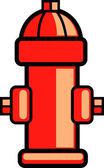 Fire hydrant clip art — Stock Vector
