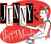 Vintage Jennys Happy Maids advertisement — Stock Vector