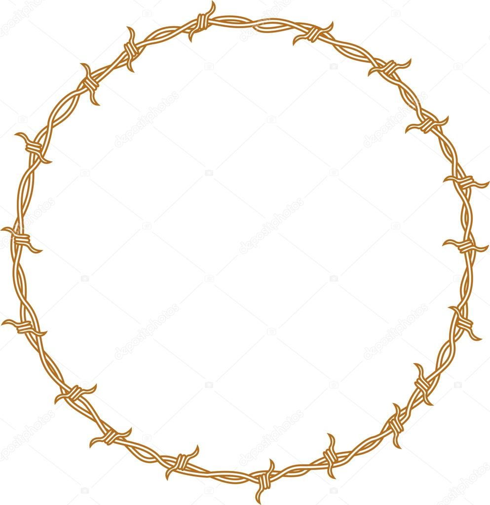 Barbed Wire Circle Vector   www.imgkid.com - The Image Kid ...