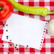 Notebook for culinary recipes — Stock Photo