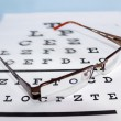 Eye chart - Foto Stock