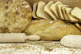 不同类型面包 — 图库照片