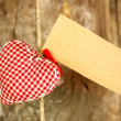 Heart on wooden background — Stock Photo