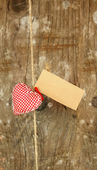 Heart on string — Stock Photo