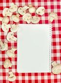 Livre de recettes vierge — Photo