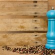 Pepper and pepper mill — Stock Photo