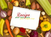 Recipes book — Stock Photo