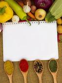 Notebook für Rezepte — Stockfoto