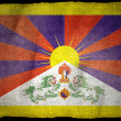 Stock Photo: TIBETAN National flag
