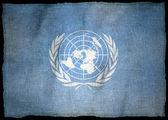 Onu znak vlajka — Stock fotografie