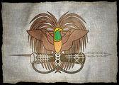 Papua New Guinea ARMS, National flag — Stock Photo