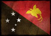 Bandeira nacional de Papua Nova Guiné — Fotografia Stock