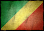 Republic Of The Congo National flag — Stockfoto