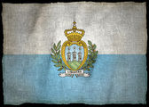 SAN MARINO ARMS, National flag — Stock Photo