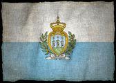 SAN MARINO ARMS, National flag — Stock Photo
