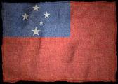 SAMOA National flag — Stock Photo