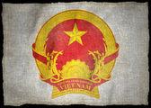 VIETNAM ARMS National flag — Stock Photo