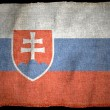 SLOVAKIA NATIONAL FLAG — Stock Photo