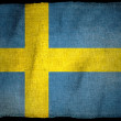 SWEDEN NATIONAL FLAG — Stock Photo