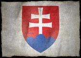 Herb flaga narodowa słowacji — Zdjęcie stockowe
