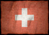 SWITZERLAND NATIONAL FLAG — Stock Photo