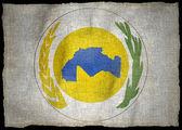 MAGHREB UNION NATIONAL EMBLEM FLAG — Stock Photo