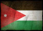 Nationale vlag van jordanië — Stockfoto