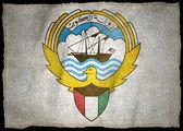 KUWAIT ARMS NATIONAL FLAG — Stock Photo