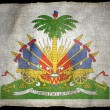 HAITI ARMS NATIONAL FLAG — Stock Photo