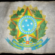BRAZIL ARMS NATIONAL FLAG - Stock Photo