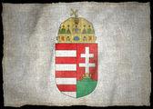 HUNGARY ARMS NATIONAL FLAG — Stock Photo