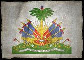 HAITI ARMS NATIONAL FLAG — Stock Photo