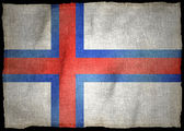 FAROE ISLANDS NATIONAL FLAG — Stock Photo