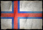 Bandeira nacional das Ilhas Faroé — Fotografia Stock