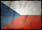 Národní vlajka čr — Stock fotografie