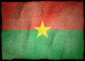 BURKINA FASO NATIONAL FLAG — Stock Photo