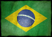 BRAZIL NATIONAL FLAG — Stock Photo