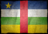 CENTRAL AFRICAN REPUBLIC NATIONAL FLAG — Stock Photo