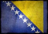 BOSNIE HERZEGOVINE NATIONAL FLAG — Stock Photo