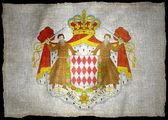 MONACO ARMS NATIONAL FLAG — Stock Photo