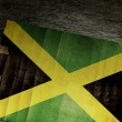 NATIONAL FLAG of JAMAICA — Stock Photo